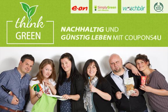 Günstig und nachhaltig shoppen im ThinkGreen-Special von COUPONS4U