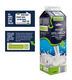 Mindesthaltbarkeitsdatum auf Milchverpackungen
