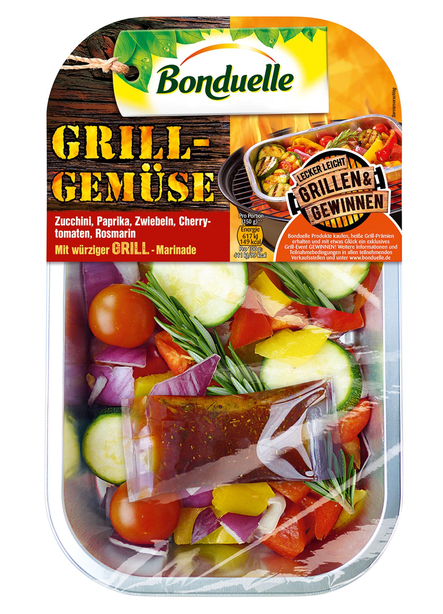neu limitiert bonduelle grill gem se grill salat food monitor. Black Bedroom Furniture Sets. Home Design Ideas