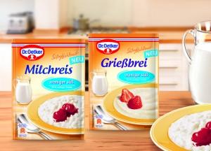 Dr. Oetker_Süße Mahlzeit_Milchreis und Grießbrei weniger süß_frei bis März 2015