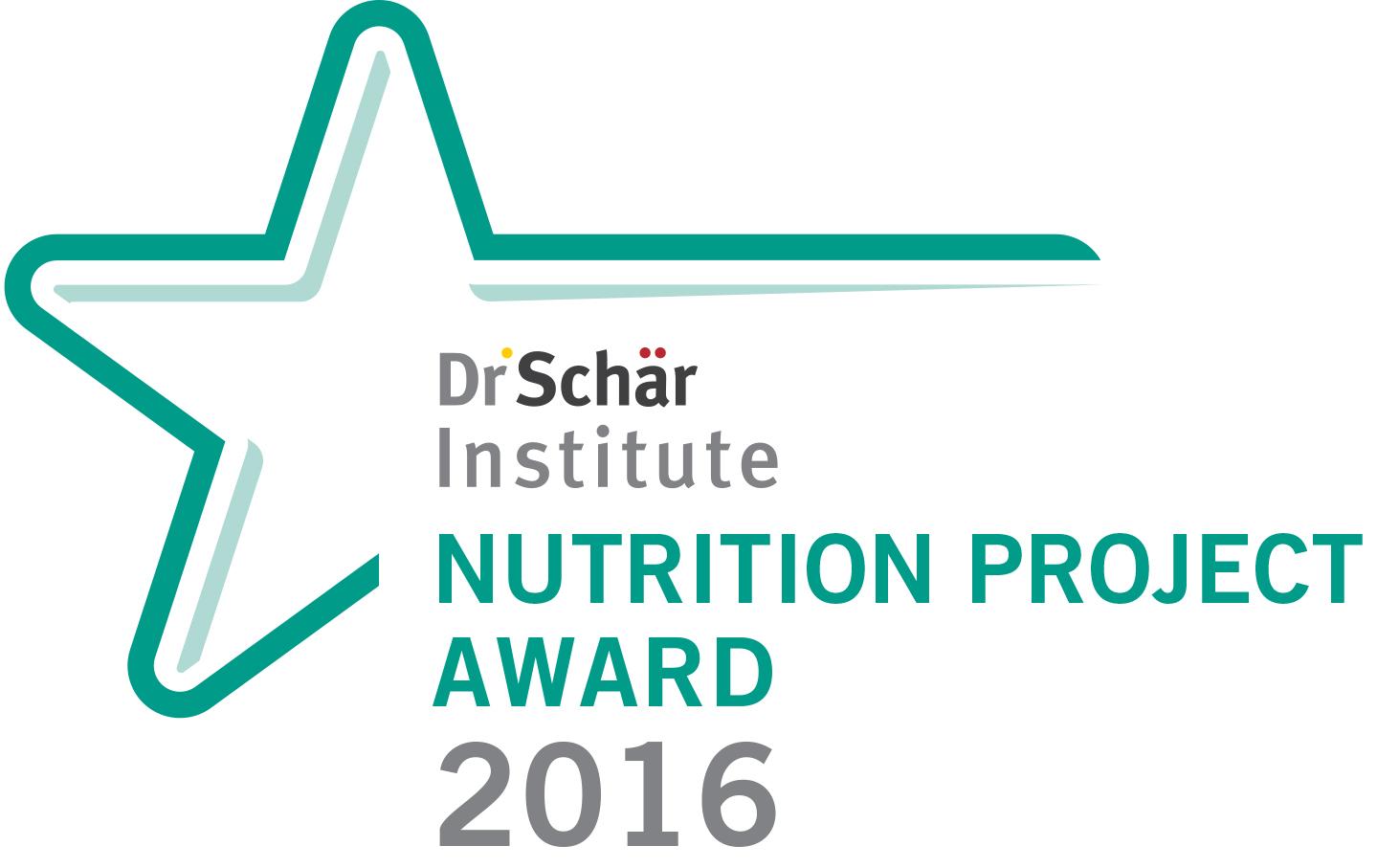 Logo des Dr. Schär Institute Nutrition Project Award