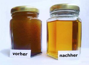 Mikrofiltrierung mit Filtafry: Öl vorher - nachher