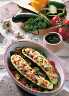 Gefuellte Zucchini