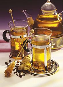 Ingwer-Traubensaft-Tee