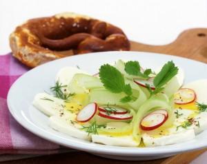 Grünes Rezept des Tages: Mozzarella bavarese