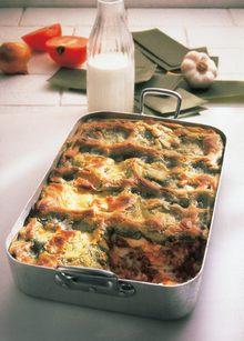 Lasagne m Hackfl+Mozzarella
