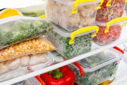 Tiefkühlprodukte, Lebensmittel eingefroren