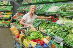Einkauf von Obst und Gemüse
