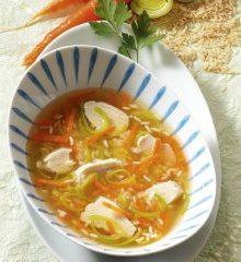 Leichte Hühnersuppe mit Reis