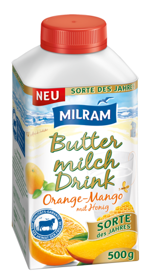 MILRAM Buttermilch Drink Orange-Mango 500g