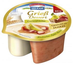 MILRAM/Ravensberger Grieß Dessert Gartenfrüchte