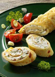 Pfannkuchen-Roellchen m Feta
