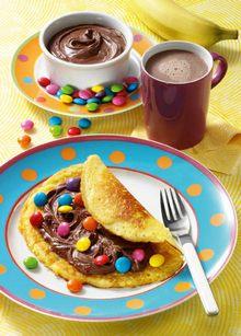 Pfannkuchen mit Smarties
