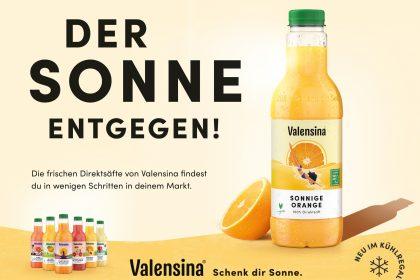 Plakatkampagne für die Valensina Cool Collection