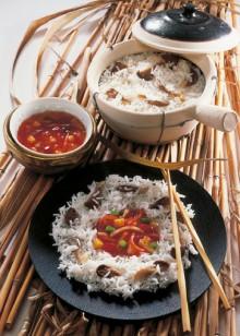 Reis mit Austernpilzen