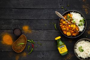 Kichererbsen-Curry mit Kurkuma