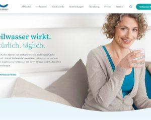 Website der Deutschen Heilbrunnen zum Naturheilmittel Heilwasser