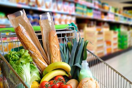 Supermarkt: Lebensmitteleinkauf