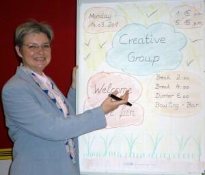 Susanne Latour beim Namenscoaching