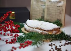 Veganer Wehnachtsstollen und Kaffee Geschenkbox