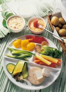 Vegetarisches Fondue