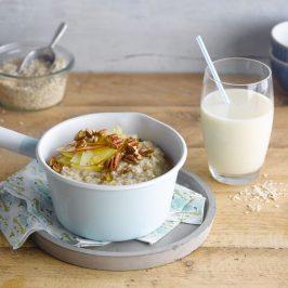 Bildunterschrift: Frühstücksinspiration für eine höhere Ballaststoffaufnahme (Foto: Alpro)
