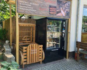 Flavura Hofladen-Automat im Gasthof Reuner in Glashütte / Baruth
