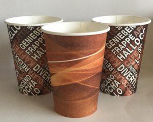 Kaffeebecher vielfarbig: 7 oz, 180 ml: Bunter Mix Pappbecher für Kaffee & Heißgetränke ToGo