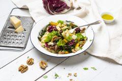 Basta Pasta! Mangold-Radicchio-Tagliatelle mit Oliven und Walnüssen