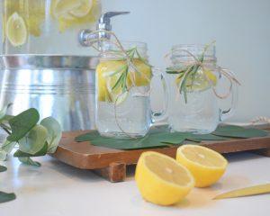 Trinken, Zitronensaft, Wasser